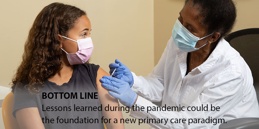 Lessons learned during the pandemic could be the foundation for a new primary care paradigm.